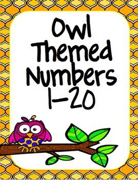 Quatrefoil Owl Number posters 1-20