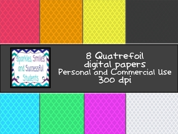 Digital Papers: Quatrefoil Pack