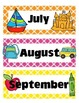 Quatrefoil Print Months & Days of the Week Cards