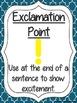 Quatrefoil Punctuation Posters