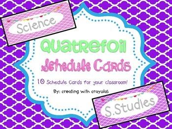 Quatrefoil Schedule Cards