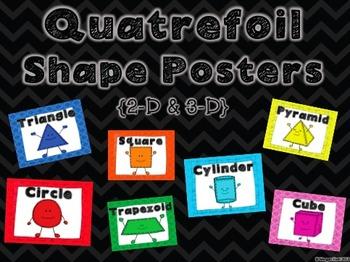 Quatrefoil Shape Posters - 2D & 3D