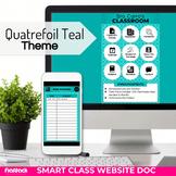 Quatrefoil Teal Smart Class Website Doc (Google Slides Style!)