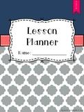 Quatrefoil Theme Lesson Plan Book