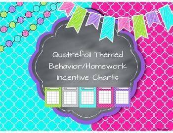 Quatrefoil Themed Behavior/Homework Incentive Charts