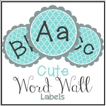 Quatrefoil Word Wall Labels