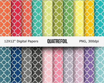 Quatrefoil digital pattern paper or background