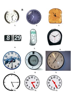 ¿Qué Hora Es?  Partner activity for telling time in Spanish