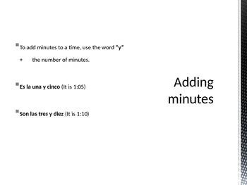 Que Hora Es- Telling Time in Spanish