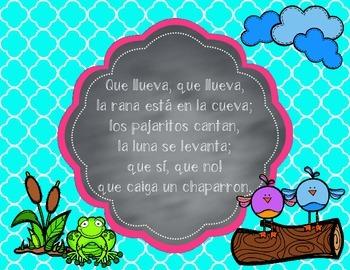 """Que Llueva"" a Mexican game song - original Orff arrangement, with tonic bordun"