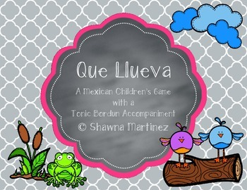 """Que Llueva"" a Mexican game song - original Orff arrangeme"