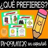 Que Prefieres En Español -  Would You Rather in Spanish- G