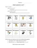 Que Quieres Ser- Spanish Occupation Interactive Activity