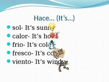 Que Tiempo Hace Spanish PowerPoint