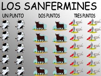 Que Vivan los Sanfermines - Spanish Vocabulary and Speaking Game