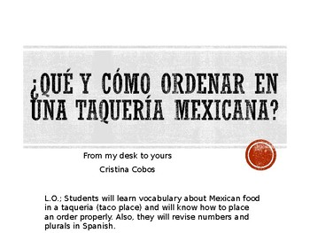 Qué  cómo ordenar en una taquería mexicana/ How to order in a Mexican taco place