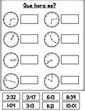 Que hora es?  Spanish Telling Time