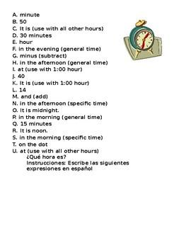 Que hora es practica