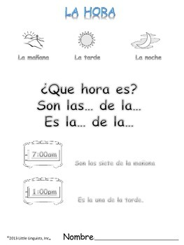 ¿Que hora es?/What time is it?