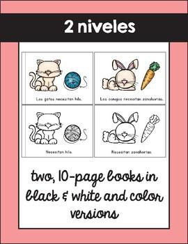 Que necesitan las mascotas / What do Pets Need Emergent Reader in Spanish