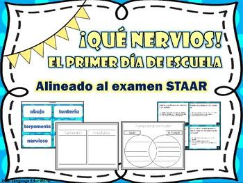 Que nervios El primer dia de escuela/ First Day Jitters in Spanish