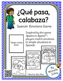 Que pasa, calabaza?  Spanish emotions game with ESTAR and TENER