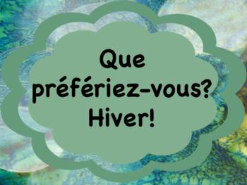 Que préfériez-vous? - Hiver