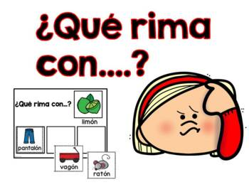 Que rima con?    Rhyming Mats in Spanish