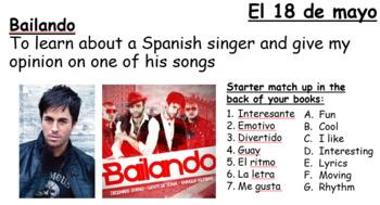 Qué tipo de música te gusta - Bailando - Enrique Iglesias
