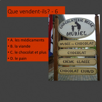 Que vendent-ils? French beginners. What do these Montreal stores sell?