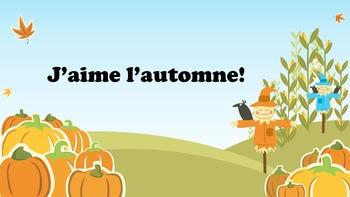 Que vois-tu en automne?
