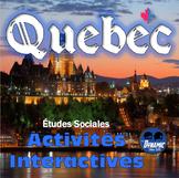 Québec Activités Interactives Version Française