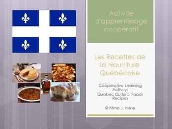 Quebec Cultural Foods Recipe Scramble Activity