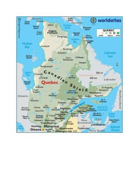 Quebec Map Scavenger Hunt