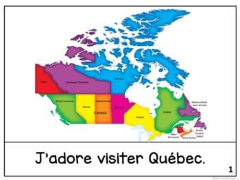 Québec {Quebec, Canada} Reader & Vocab work ~ {en français}
