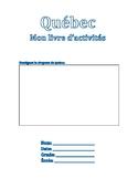 Québec: activity book