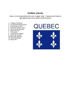 Quebec project places