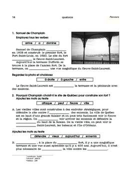 Québec, speak French in North America - 3 mini thematic units - FR 1