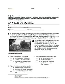 Québec, speak French in North America - 3 mini thematic units - FR 1