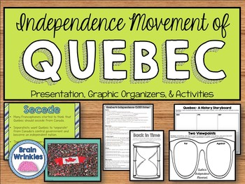 Quebec's Independence Movement - Interactive Notes & Activities (SS6H5)