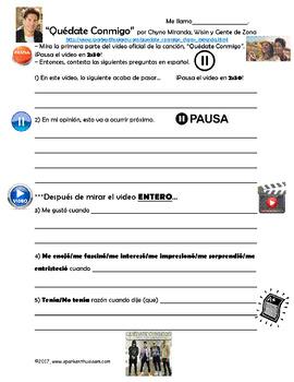 Quedate Conmigo Spanish Song Lyrics & Activities - Chyno Miranda - Musica