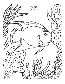 ANiTAiLS:Queen Angelfish Story, Crossword, Coloring Page and More