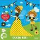 Queen Bumble Bee Clipart, Bee clipart,  AMB-929