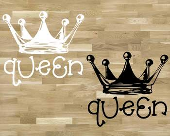 Queen Crown SVG Princess Charming Castle Birthday clipart Fairy Tale 1259S