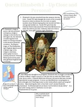 Queen Elizabeth I Worksheet