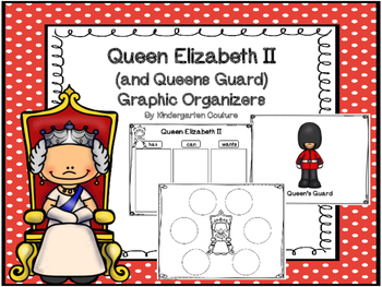 Queen Elizabeth II Graphic Organizers (and Queen's Guard)