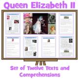 Queen Elizabeth - Set of 11 Simple Text Comprehensions