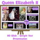 Queen Elizabeth's 90th Birthday Simple Text Presentation