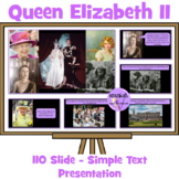 Queen Elizabeth's 90th Birthday Simple Text Presentation