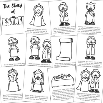 Queen Esther Bible Story Coloring Pages And Posters Craft Activity